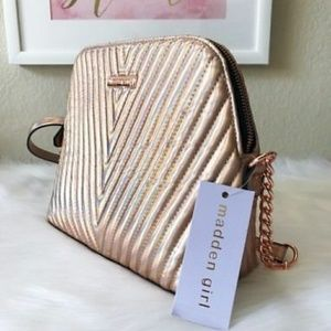 Madden Girl Rose Gold Holographic crossbody